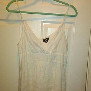 White linen dress sz 10